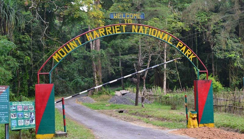 Mount Harriet National Park in Andaman