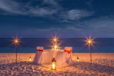 Candle Light Dinner in Andaman Islands
