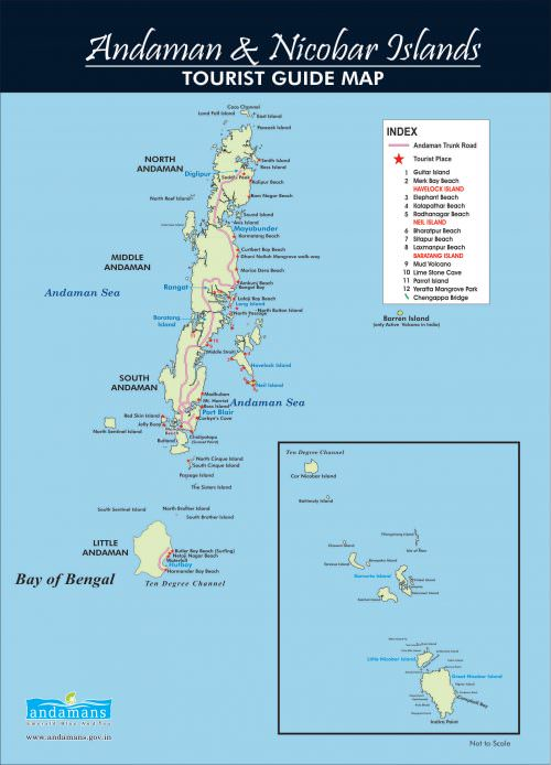 Andaman Tourist Map